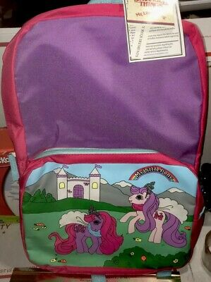 $27.77 • Buy 👩🏾‍🦰BTS Stranger Things 16  My Little Pony Vtg Design Backpack - Purple/Pink
