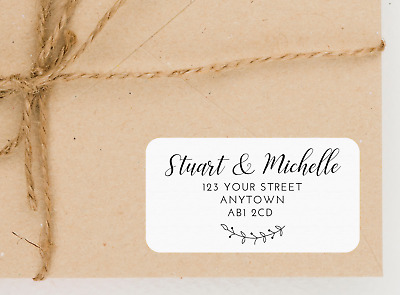 £2.20 • Buy Personalised Address Labels / Stickers - Wedding, New Home, RSVP, Return Sticker