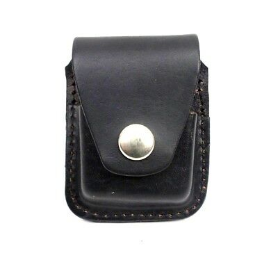 Zippo Lighter Pouch Case Black Leather With Belt Loop Made In USA New • 11.49$