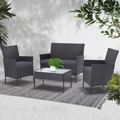 AU351.90 • Buy Gardeon Garden Furniture Outdoor Lounge Setting Wicker Set Patio Chairs Table