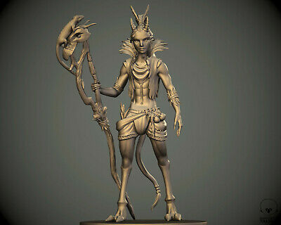 $ CDN13.23 • Buy 28 Mm Tiefling Druid Shaman Miniature For DnD D&D Pathfinder Warhammer Reaper