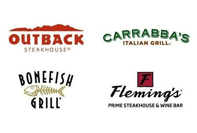 $50 • Buy $50 Outback Steakhouse, Bonefish And Carrabba's (Instant Email Or Mail Delivery)