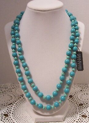 Joan Rivers Ep Turquoise Color Czech Glass Bead Necklace • 12$
