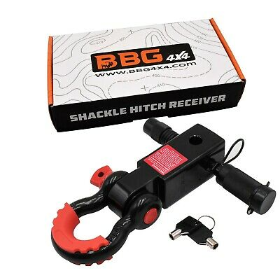 $30.99 • Buy BBG4x4 Shackle Hitch Receiver 2 Inch With D-Ring Isolator