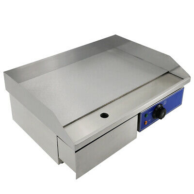 Electric Griddle Flat Hotplate BBQ Grill Commercial Counter Stainless Steel 3KW • 99.90£