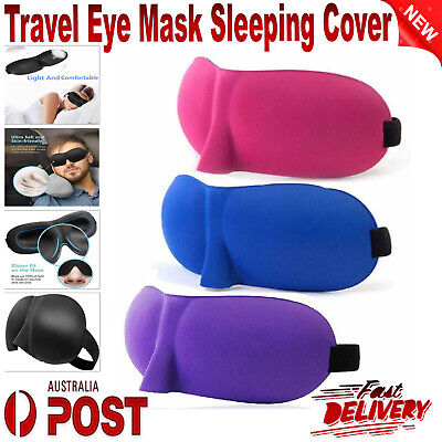 AU3.84 • Buy 3D Travel Eye Mask 3D Foam Padded Sleep Sleeping Cover Rest Eyepatch Blindfold