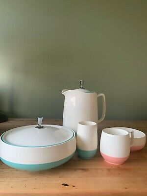 $29.99 • Buy Vintage Mid Century Vacron Bopp Decker Plastic White Turquoise And Pink