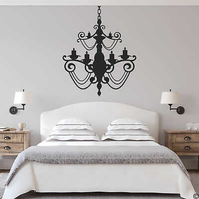£19.12 • Buy Chandelier Wall Decal Gothic Wrought Iron Home Decor Removable Sticker CH08