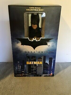 $399.95 • Buy Hot Toys SET OF TWO Batman & The Joker The Dark Knight 1/4 Bust NEW SEALED
