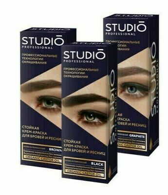 Studio Permanent Professional Color Cream Paint Tint Dye Eyelashes Eyebrow  • 8.98£