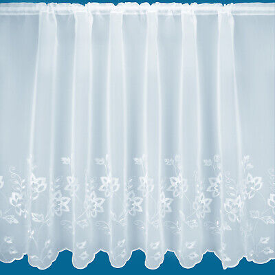 £4.99 • Buy  Tokyo  Embroidered Voile Net Curtain - Free Postage - Sold By The Metre