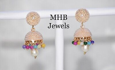 AU11.99 • Buy Indian/Pakistani Bollywood Pearl Jhumka Jhumki Earrings