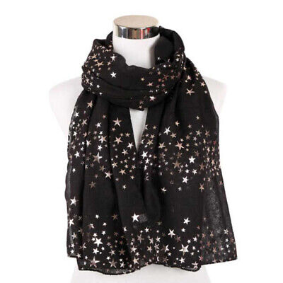 Rose Gold Glitter Foil Stars Print Ladies Party Wedding Fashion Wrap By London S • 9.99£