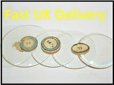 £2.97 • Buy Vintage Pocket Watch Glass Flat Bend Clear Retro Old Repair Watchmaker 22 SIZES