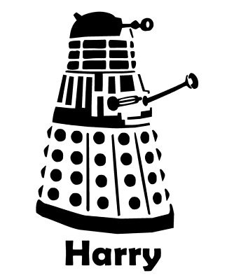 DALEK Personalised NAME Wall Door Sticker Decal Dr Who Boys Girls Kids Bedroom  • 3.89£