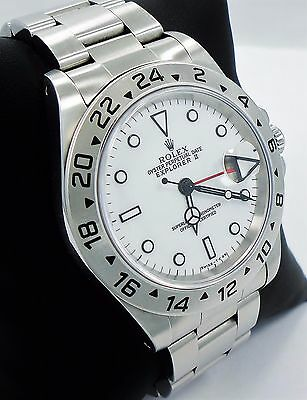 $ CDN9998.76 • Buy Rolex Explorer II 16570 GMT Stainless Steel Date White Dial Men's Watch *MINT*