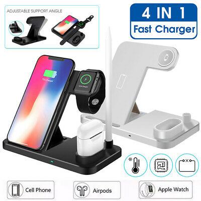 $ CDN29.76 • Buy 4in1 Qi Fast Wireless Charging Dock Stand Station For Apple Watch Airpod IPhone