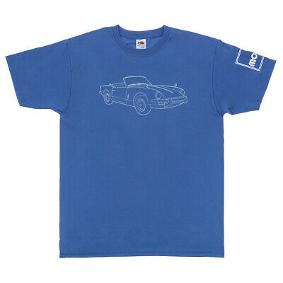 Triumph Spitfire Logo Men's T-Shirt In Blue Size L - Available Also In XS/S/M/XL • 18£