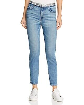 $ CDN138.94 • Buy IRO Jones Sequin High Waist Crop Jeans Stone Blue | 25