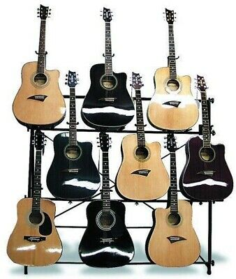 $ CDN315 • Buy Mirage AGR1009 Multi Guitar Display Stand Holds 9 Acoustic Or Electric Guitars