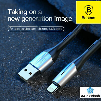 AU8.90 • Buy Baseus Lightning Cable Fast Charging Cable For IPad IPhone 11 Pro MaX XS 8 7 6