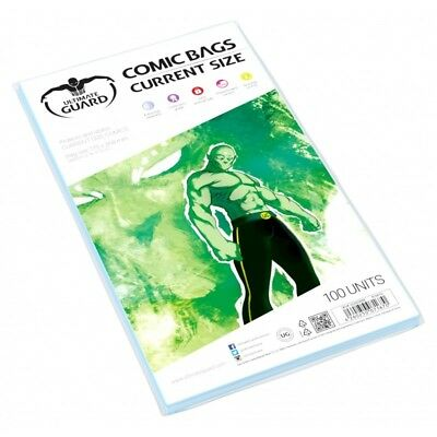 £8.23 • Buy Ultimate Guard Current Size Comic Bags Sleeves Protectors 100ct 175 X 268mm