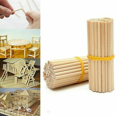 Woodworking Wooden Diy Craft Round Wooden Rods Counting Stick Educational Toys • 6.36$