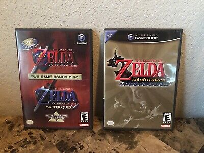 $99 • Buy Legend Of Zelda: Ocarina Of Time And The Wind Waker - GameCube, Excellent Cond.