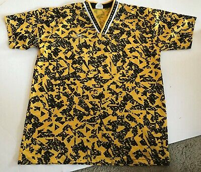 Vintage Score Soccer Jersey - Shirt - Yellow Gold  - Adult Large - # 13 • 19.99$