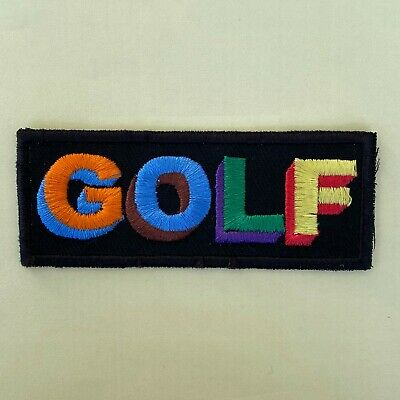 Iron On Patch - Tyler The Creator Golf Logo Embroidered Hip Hop Rap • 4.99£
