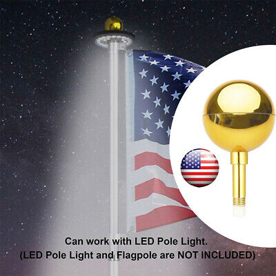 3  Flag Pole Gold Ball Top Finial Ornament For 20' 25' 30' Aluminum Flag Pole • 6.99$