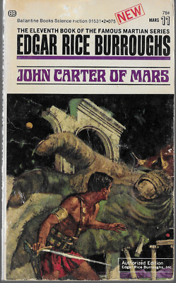 Mars Series Book 11: John Carter Of Mars By Edgar Rice Burroughs Bob Abbett  PB • 4.99$