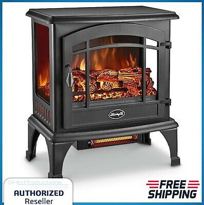$129.78 • Buy Electric Stove Fireplace Heater Fast-heating Infrared Quartz Element 5100 BTU