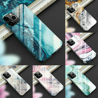 AU15.19 • Buy Marble Tempered Glass Phone Case For IPhone 11 Pro Max XS XR X Cover Luxury Hard