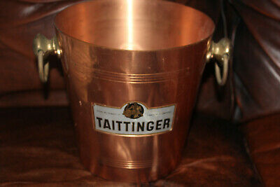Rare Vintage Taittinger Champagne Copper? Bronze Bucket Made In France • 84.85£
