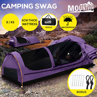 AU234.99 • Buy Mountview Double King Single Swag Camping Swags Canvas Dome Tent Hiking Purple