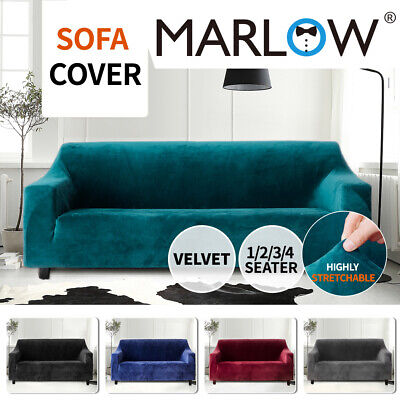 AU37.99 • Buy Sofa Cover Couch High Stretch Super Soft Plush Protector Slipcover 1-4 Seater