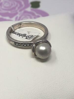 Brighton Perlina  Crystal & Glass Pearl Ring Size 9  NWoutlet Tag • 17.99$