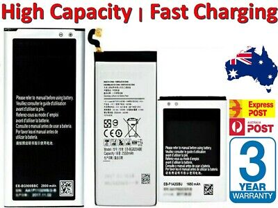 AU10.06 • Buy FAST Batteries For Samsung Galaxy S10 S3 S4 S5 S6 Edge S7 S8 S9 Note 2 3 4 5 8 9