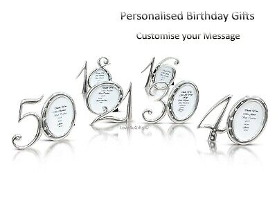 £7.49 • Buy Personalised Message Photo Frame Birthday Gifts 16th 18th 21st 30th 40th 50th