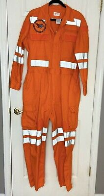 $31 • Buy Walls Master Made Orange Flight Suit Cotton Polyester Used Embroidered Patches