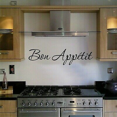 Wall Art Sticker Quote Kitchen Bon Appetit Family Dining Home Decor Decal Phrase • 3.90£