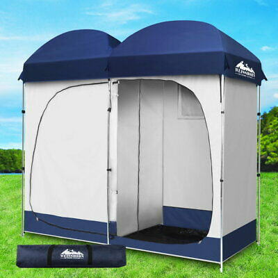 AU78.90 • Buy Weisshorn Double Shower Toilet Tent Outdoor Camping Portable Pop Up Change Room