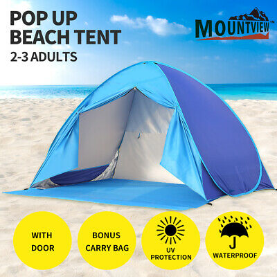 AU43.99 • Buy Mountview Pop Up Tent Beach  Camping Tents 2-3 Person Hiking Portable Shelter