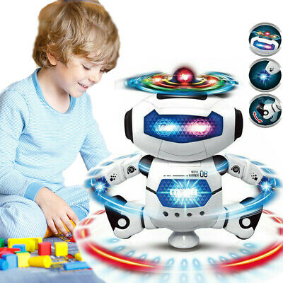 LED Light Music Electric Dancing Space Walking Robot Toy For Boys Kids Xams Gift • 12.99£