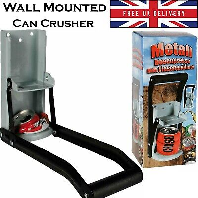 £12.94 • Buy Wall Mounted Tin Can Crusher Heavy Duty Recycling Tool With Bottle Opener 33cl