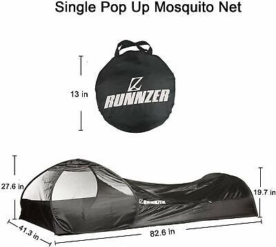 AU60 • Buy Pop Up Single Mosquito Tent, Mosquito Net For Sleeping Outdoor Camping Traveling