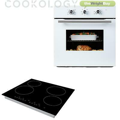 Cookology White Electric Fan Forced Oven & 60cm Touch Control Ceramic Hob Pack • 319.99£
