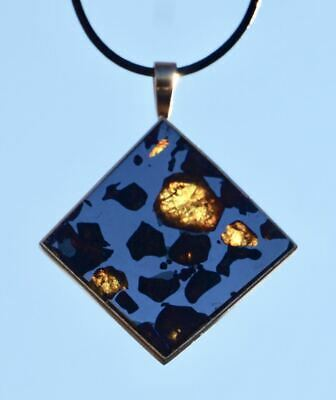 £1086.60 • Buy Superb Imilac Pallasite Jewelry Meteorite Necklace Pendant & 14k Gold! Gorgeous!