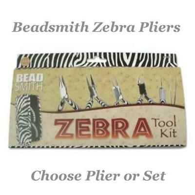 £8.50 • Buy Beadsmith ZEBRA Pliers Jewellery Tools Choose Cutter, Chain, Round, Flat OR Set.